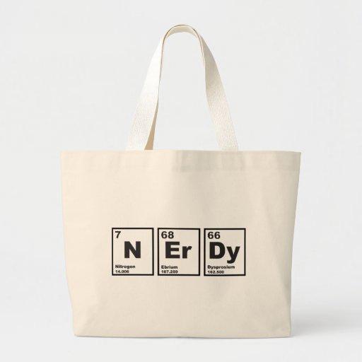 Elementos Nerdy Bolsa Tela Grande