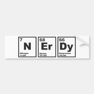 Elementos Nerdy Pegatina Para Auto