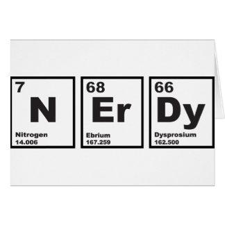 Elementos Nerdy Tarjeta De Felicitación