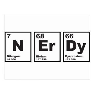 Elementos Nerdy Tarjeta Postal