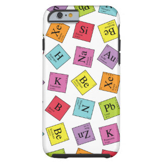Elementos periódicos funda de iPhone 6 tough