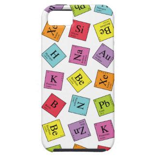 Elementos periódicos iPhone 5 carcasa