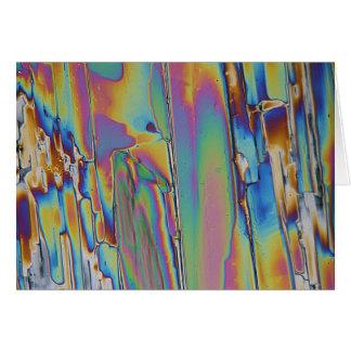 Elementos/praseodimio debajo del microscopio tarjeta de felicitación