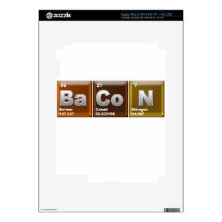 """Elementos que deletrean el """"TOCINO """" iPad 3 Pegatinas Skins"""
