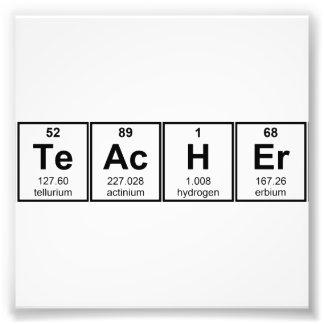 Elementos químicos del profesor de ciencias fotografías