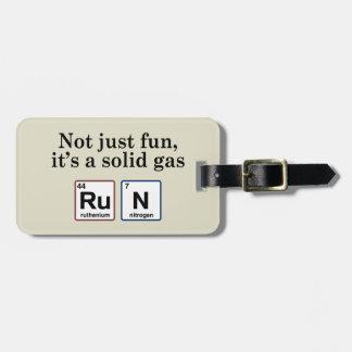 Elementos sólidos corrientes del gas etiqueta para equipaje