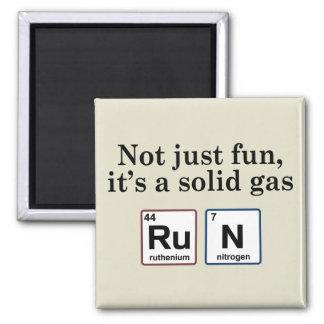 Elementos sólidos corrientes del gas iman de nevera