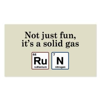 Elementos sólidos corrientes del gas tarjetas de visita