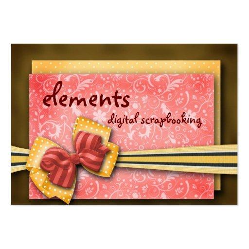 elementos… tarjetas de visita grandes