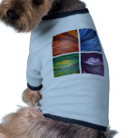 Elements acylic abstract  painting doggie tee shirt