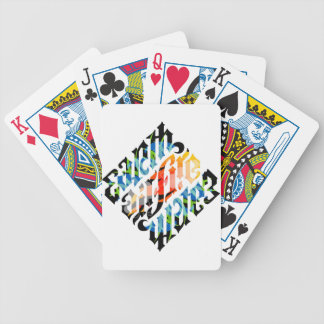 Elements Ambigram Bicycle Poker Cards