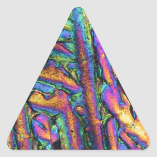 Elements/Bismuth chloride under the microscope Triangle Sticker