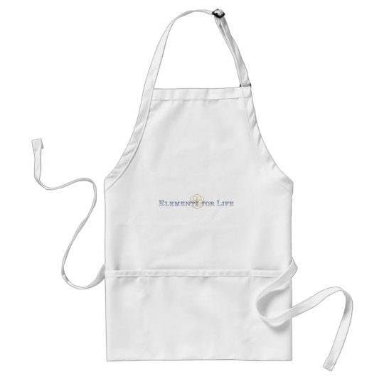 Elements For Life Blue Seed Of Life Logo Adult Apron