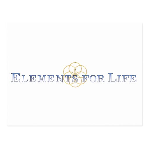 Elements For Life Blue Seed Of Life Logo Post Cards