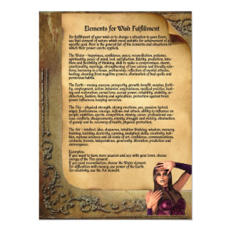 Elements for Wish Fulfillment Book of Shadows Page Card