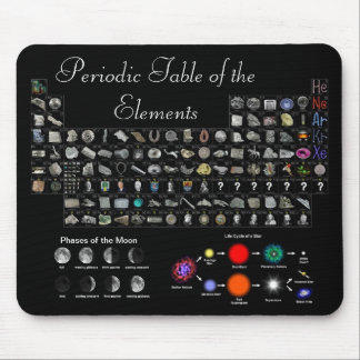 Elements, moon, and stars at your fingertips mouse pad