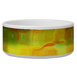 Elements of a Day Dream Abstract Mosaic  Pet Bowl