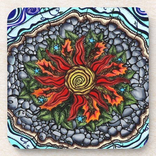 Elements of Creation (color) coasters