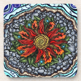 Elements of Creation color coasters