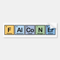 Bumper Sticker with Falconer Made Of Elements design