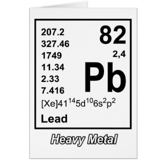Elements of Heavy Metal Greeting Card