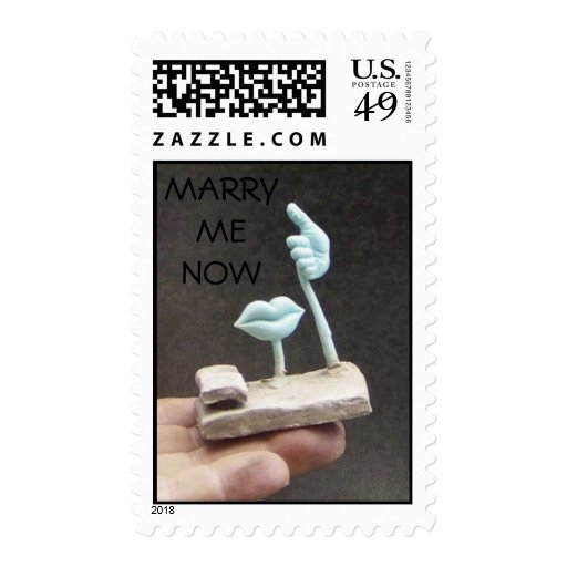 Elements of love postage stamps