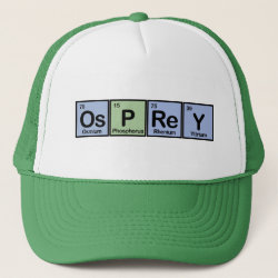 Trucker Hat with Osprey Made Of Elements design