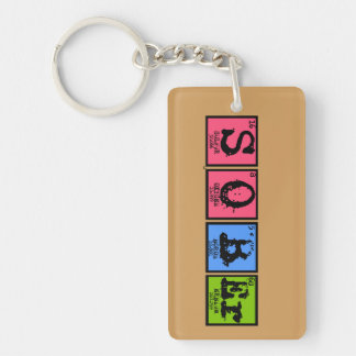 Elements of Sober Key Chain (Colorful)