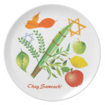 Elements of Sukkot Plate