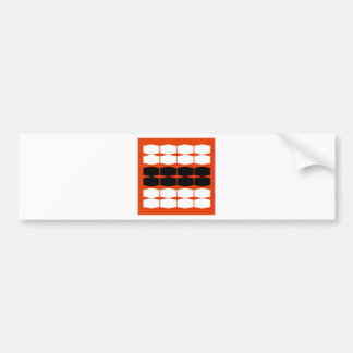 Elements on brown bumper sticker