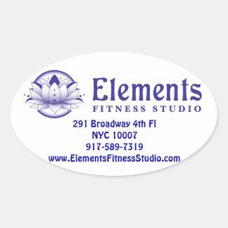 Elements Oval sticker