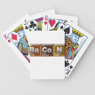 "Elements spelling ""BACON"" Bicycle Playing Cards"