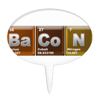 "Elements spelling ""BACON"" Cake Topper"