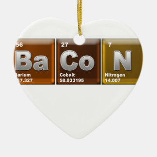 "Elements spelling ""BACON"" Ceramic Ornament"