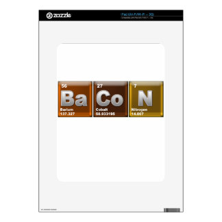 """Elements spelling """"BACON"""" Decal For The iPad"""