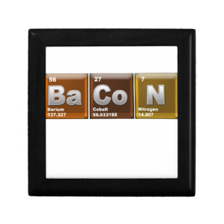 "Elements spelling ""BACON"" Gift Box"