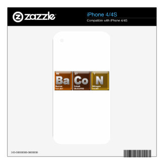 "Elements spelling ""BACON"" iPhone 4S Decals"