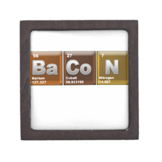 "Elements spelling ""BACON"" Jewelry Box"