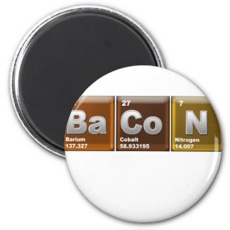 "Elements spelling ""BACON"" Magnet"