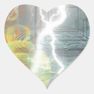 Elements Heart Stickers
