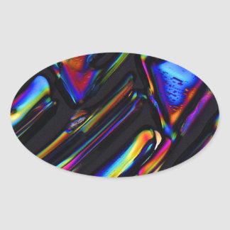 Elements/Zinc sulfate under the microscope Oval Sticker