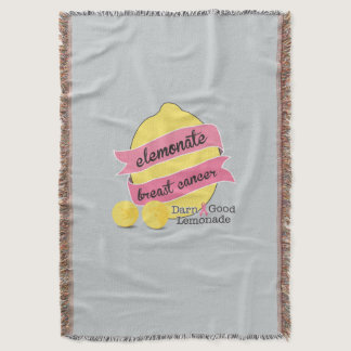 Elemonate Breast Cancer and Stay Warm Throw Blanket