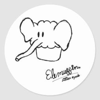 Elemuffin! Classic Round Sticker