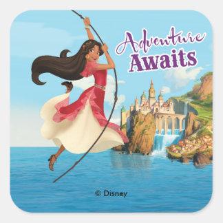 Elena | Adventure Awaits Square Sticker