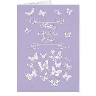 Elena Butterflies Happy Birthday Irish Blessing Card
