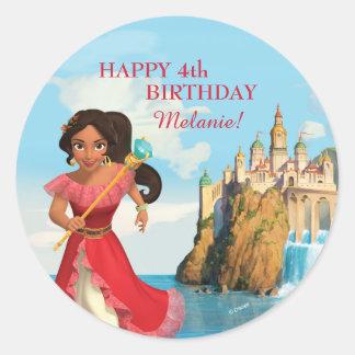 Elena del cumpleaños de Avalor el | Pegatina Redonda