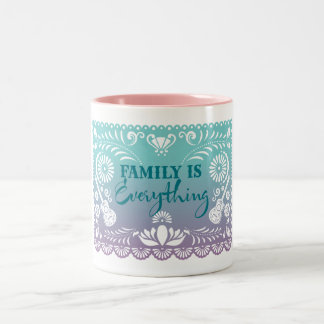 Elena   Family Is Everything Two-Tone Coffee Mug