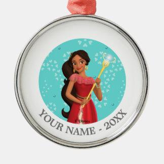 Elena   Holding Magic Wand Add Your Name Metal Ornament