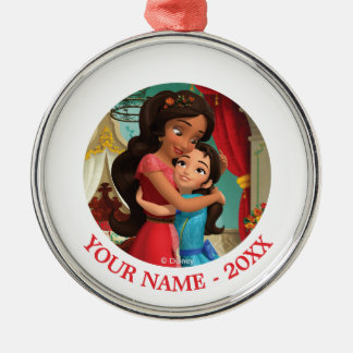 Elena | Holding Sister Isabel Add Your Name Metal Ornament
