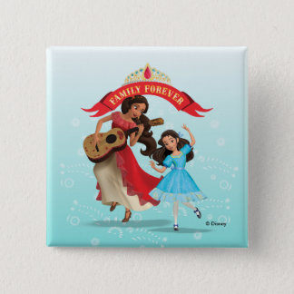 Elena & Isabel | Sister Time Pinback Button